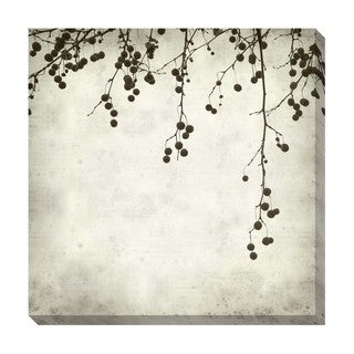 Berries II Black and White Oversized Gallery Wrapped Canvas