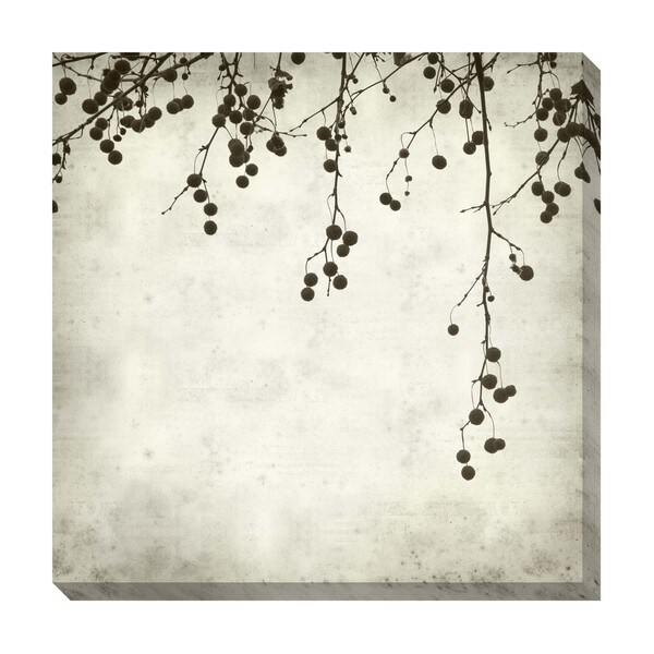 Gallery Direct Berries II Black and White Oversized Gallery Wrapped Canvas
