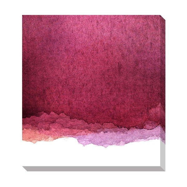 Pink Watercolor Gradient Oversized Gallery Wrapped Canvas