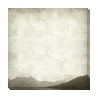 Mountain Range Black and White Oversized Gallery Wrapped Canvas