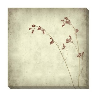 Small Flowers Black and White Oversized Gallery Wrapped Canvas