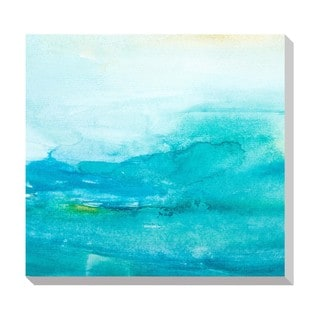 Water Color Lines II Oversized Gallery Wrapped Canvas
