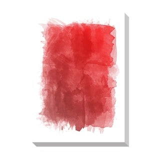 Gallery Direct Red Watercolor Oversized Gallery Wrapped Canvas