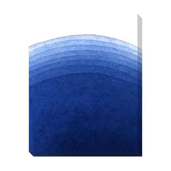 Gradient Blue Watercolor Oversized Gallery Wrapped Canvas