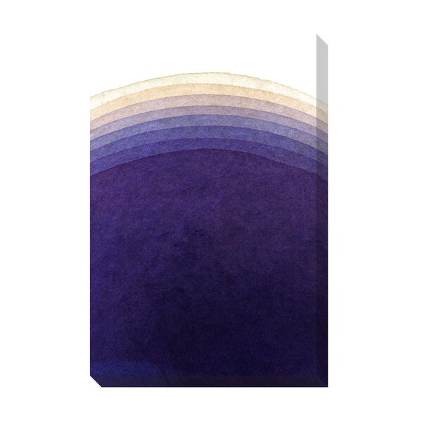 Gradient Purple Watercolor Oversized Gallery Wrapped Canvas