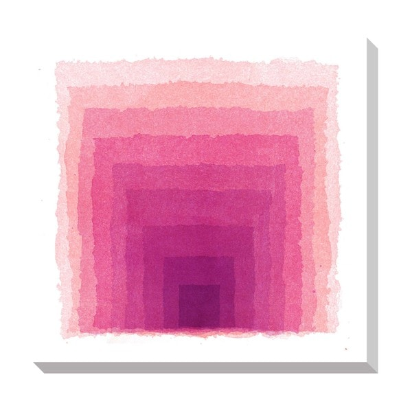 Pink Gradient Square Oversized Gallery Wrapped Canvas