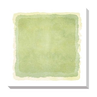 Abstact Light Green Watercolor Oversized Gallery Wrapped Canvas