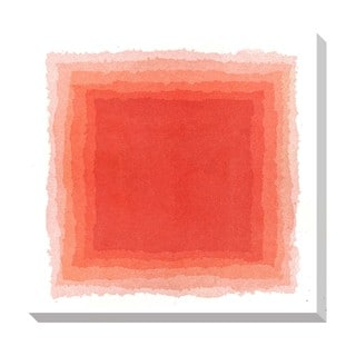 Gallery Direct Abstract Red Watercolor Oversized Gallery Wrapped Canvas