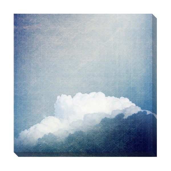 Vintage Blue Clouds Oversized Gallery Wrapped Canvas