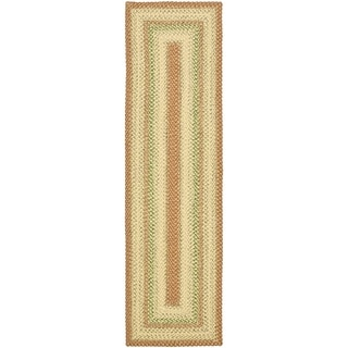 Hand-woven Country Living Reversible Rust Braided Rug (2'3 x 6')
