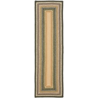 Safavieh Hand-woven Country Living Reversible Blue Braided Rug (2'6 x 5')