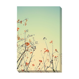 Gallery Direct Red Leaves Oversized Gallery Wrapped Canvas