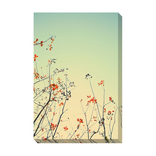 Red Leaves Oversized Gallery Wrapped Canvas