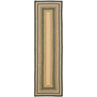 Hand-woven Country Living Reversible Blue Braided Rug (2'3 x 14')