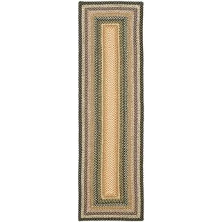 Hand-woven Country Living Reversible Blue Braided Rug (2'3 x 6')