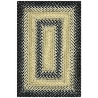 Safavieh Hand-woven Country Living Reversible Black/ Grey Braided Rug (2'6 x 5')