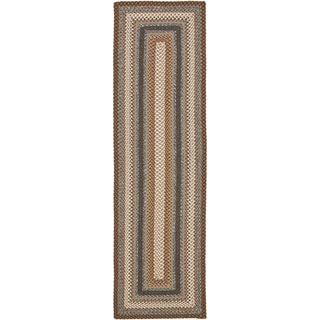 Hand-woven Country Living Reversible Brown Braided Rug (2'3 x 6')