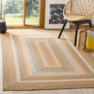 Hand-woven Country Living Reversible Tan Braided Rug (2'6 x 5')