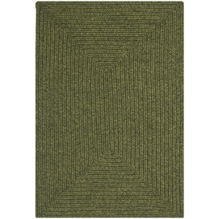 Hand-woven Country Living Reversible Green Braided Rug (2' x 3')