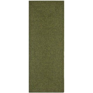 Safavieh Hand-woven Country Living Reversible Green Braided Rug (2'6 x 5')