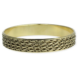 Handcrafted Goldtone Chain Bangle Bracelet (India)