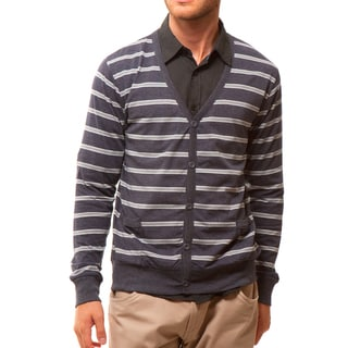 191 Unlimited Men's Slim-Fit Striped Cardigan