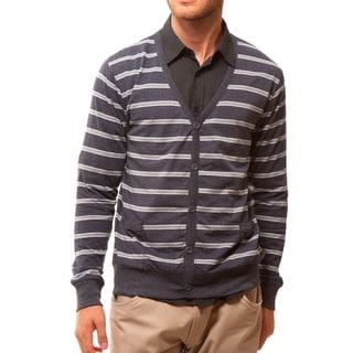 191 Unlimited Men's Slim-Fit Striped Cardigan