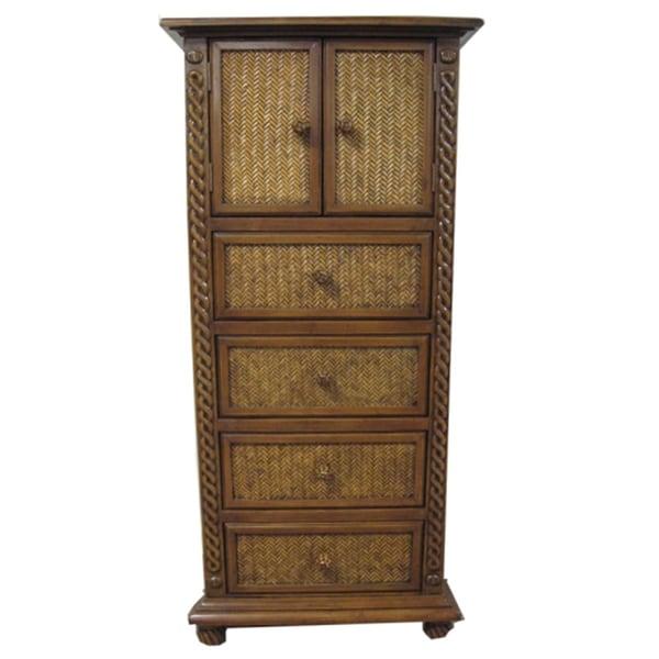 Brown Wooden 4-drawer Chest