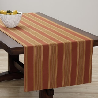 Extra Wide Italian Woven Rust/ Gold Table Runner 95 x 26 inches