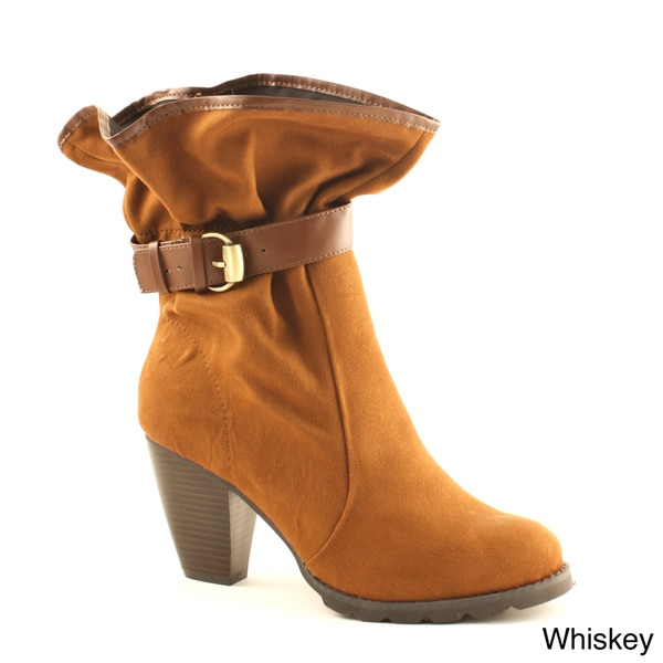 Pazzos Women's 'Amber' Gathered Ankle Booties