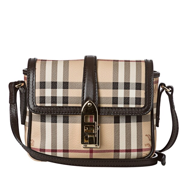 Burberry 'Berkeley' Mini Beige Haymarket Crossbody Bag