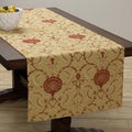 Coronal Floral/ Leaf Design Extra Wide Table Runner