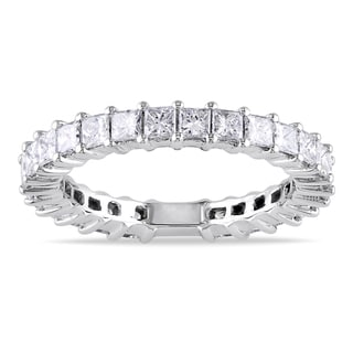 Miadora 14k White Gold 1 4/5ct TDW Diamond Eternity Ring (G-H, SI1-SI2)