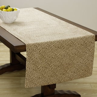 Extra Wide Italian Woven Giraffe Spot Table Runner 95 x 26 inches