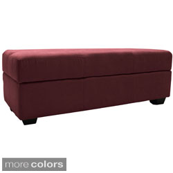 "Vanderbilt Tufted Padded Hinged 48"" x 19"" Loveseat Storage Ottoman Bench"