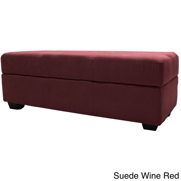 Vanderbilt 48 x 19 Tufted Panel Stitched Padded Hinged Loveseat-size Storage Ottoman Bench