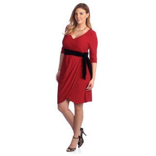 Kiyonna Women's Plus Size Red Harlow Wrap Dress