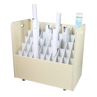 Mobile Wood Roll File 50 Compartments