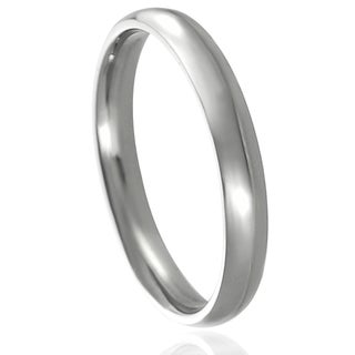 Journee Collection Stainless Steel Wedding Band (4 mm)