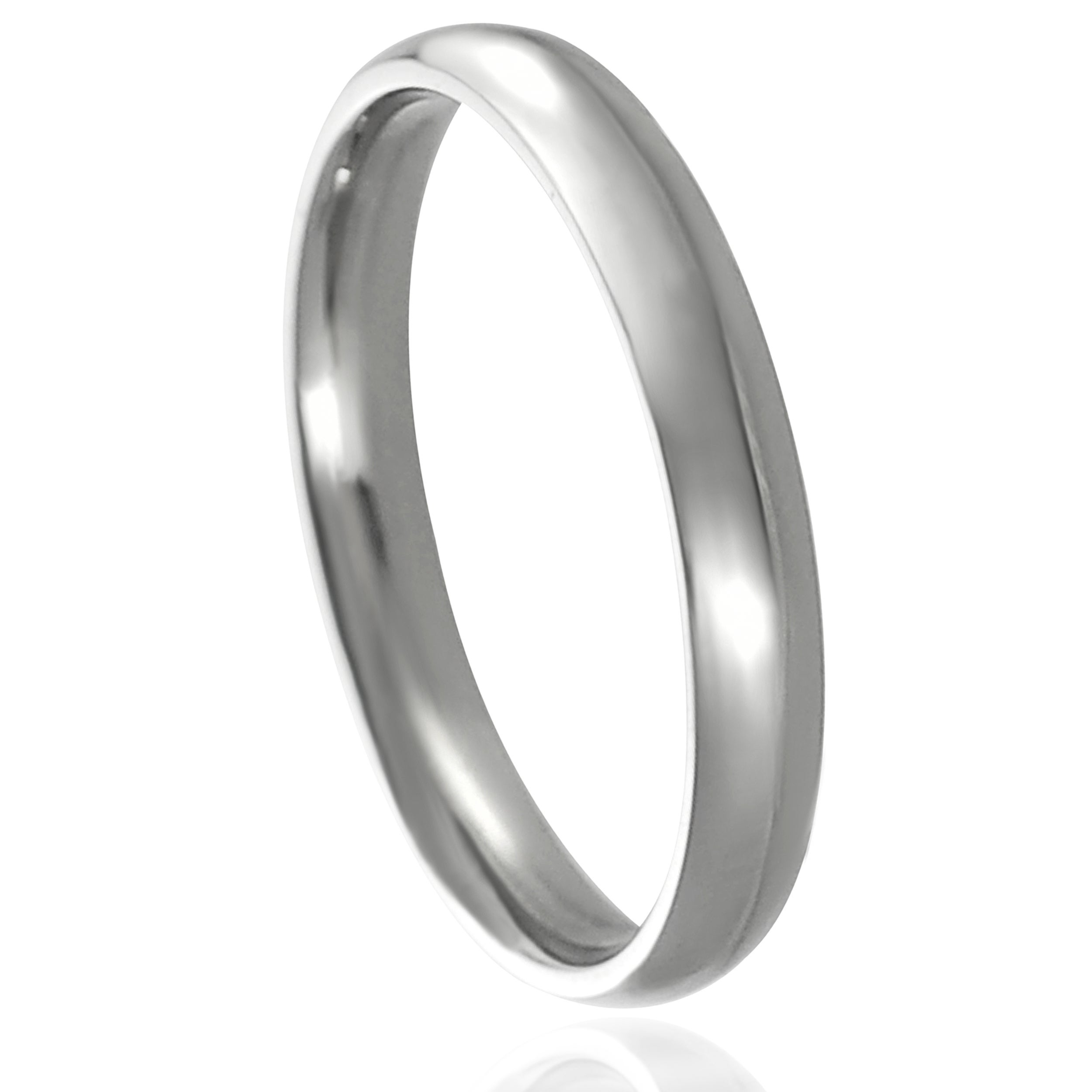Journee Collection Stainless Steel Wedding Band 4 mm Overstock Shopping