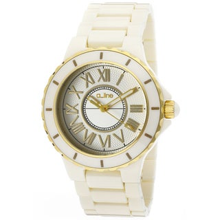 a_line Women's 'Marina' Beige Ceramic Watch