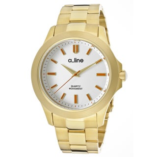 a_line Women's 'GRA' Goldtone Ion-Plated Stainless Steel Watch