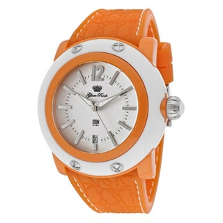 Glam Rock Women's 'Miami Beach' Orange Silicone Watch