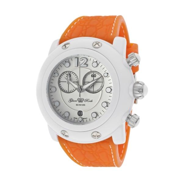 Glam Rock Women's 'Miami Beach' Orange Silicone Watch