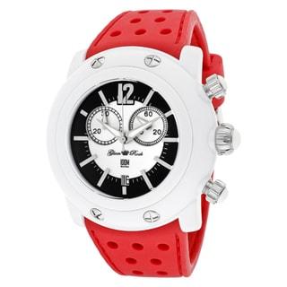 Glam Rock Women's 'Miami Beach' Red Silicone Watch