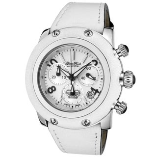 Glam Rock Women's 'Miami' White Genuine Calf Leather Watch