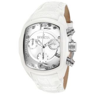 Invicta Women's 'Lupah/Revolution' White Genuine Leather Watch