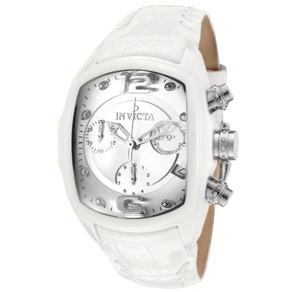 Invicta Women's 'Lupah/Revolution' White Genuine Leather Watch