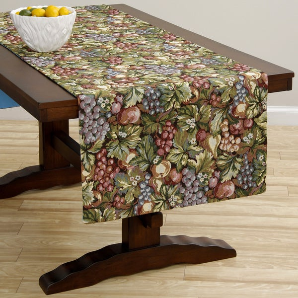 Corona Decor Extra Wide Italian Woven 95 X 26 Inch Table