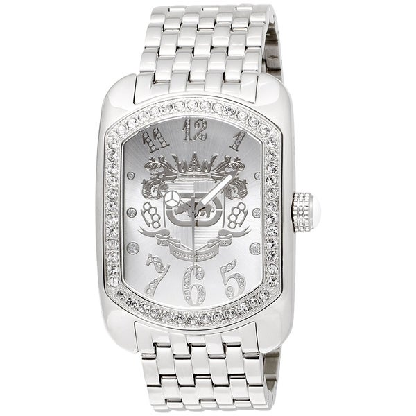 Marc Ecko Men's Stainless Steel Crystal-accented Watch